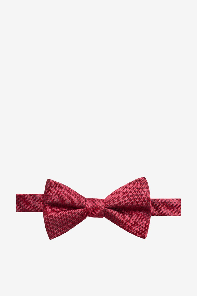 Men's Kent Unsolid Pre-Tied Silk Bow Tie, Red