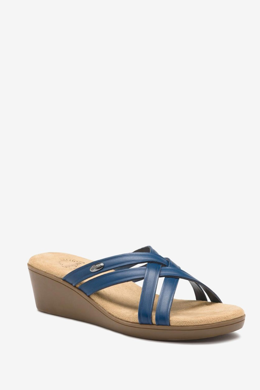 Women's Sheila Wedge Sandals, Navy