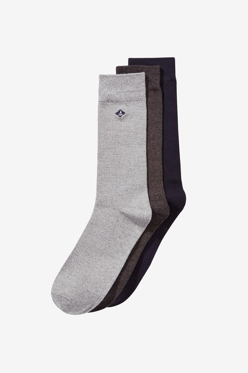 Men's 3-Pk. Casual Crew Socks, Griffin High Combo