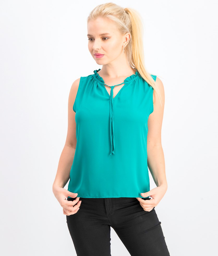 Women's Sleeveless Tie-Up Top, Green