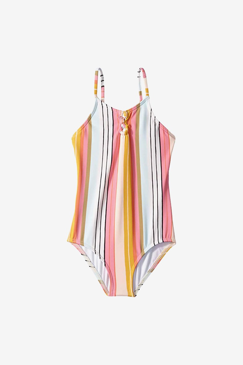 Toddler  Girls Sunny Song One-Piece, Peach Combo