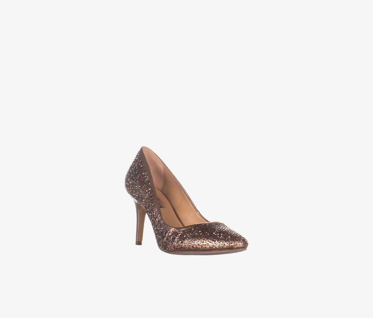 Zitah Pointed Toe Rhinestone Evening Pumps, Soft Bronze