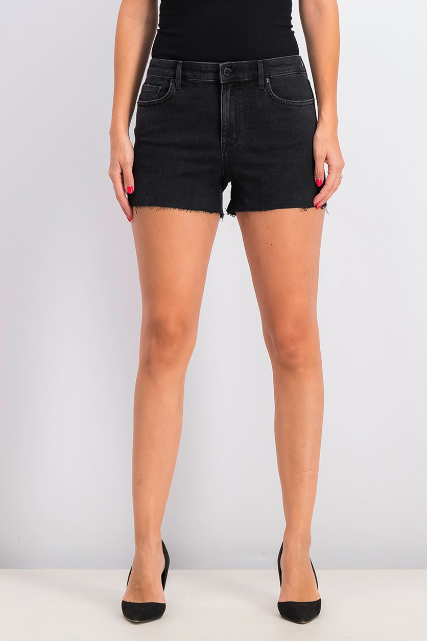 Women's Cutoff Shorts, Black