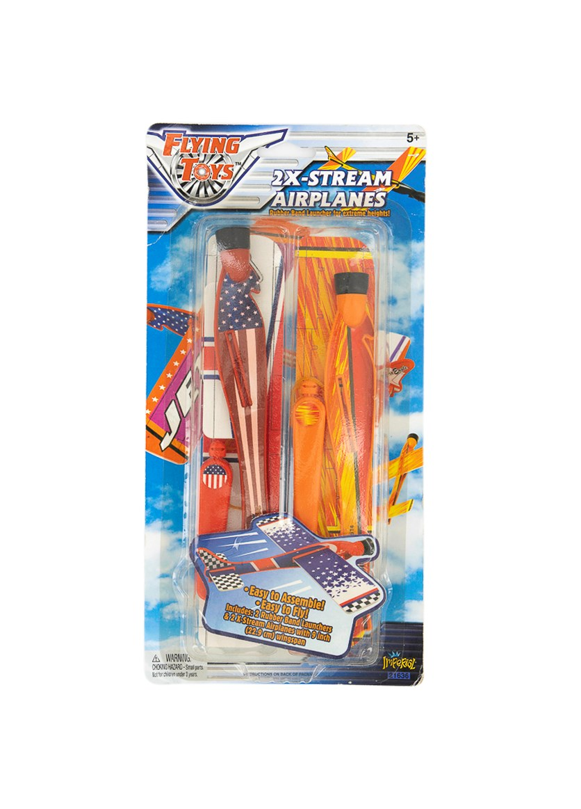 2x-Stream Airplanes Flying Toys, Red Combo
