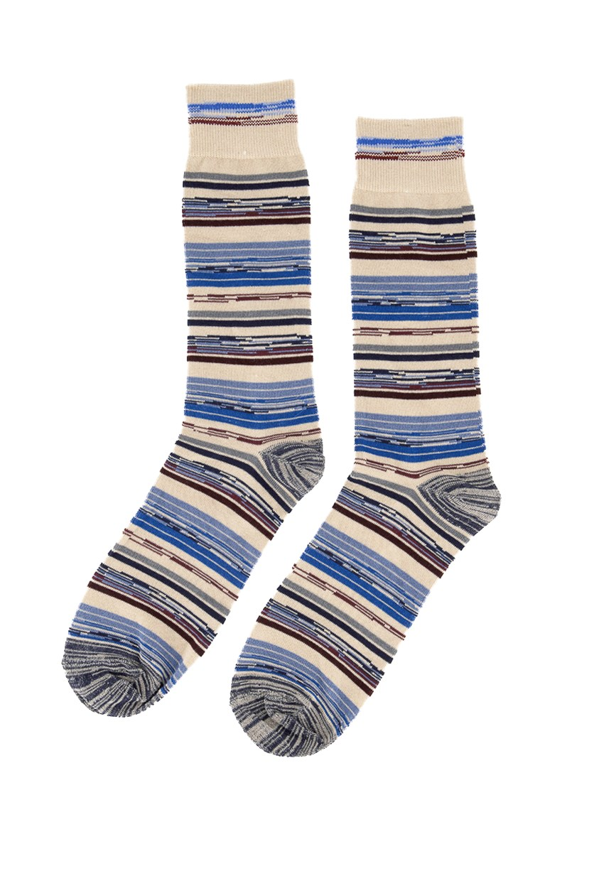 Men's Space-Dyed Socks, Stone Combo