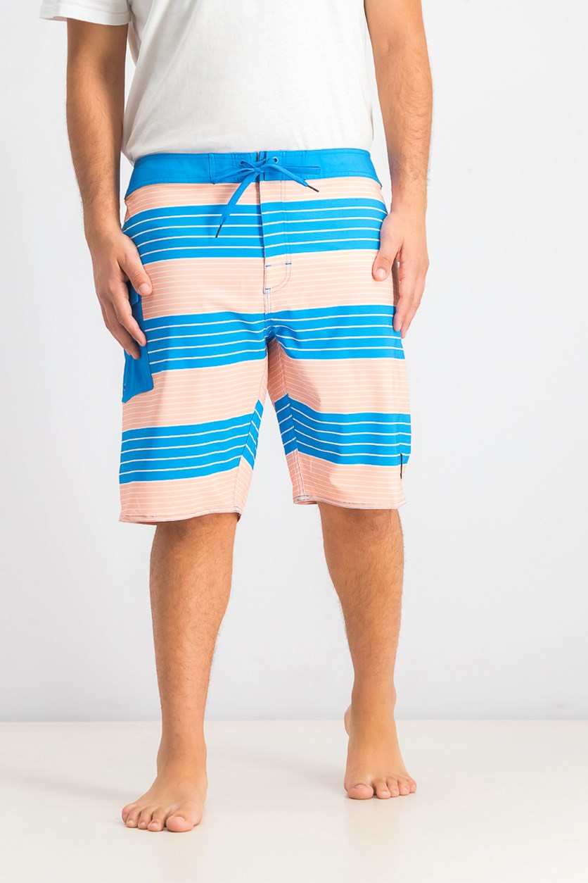 Men's Uncivil Stripe 20 Board Short,  Blue Cruz