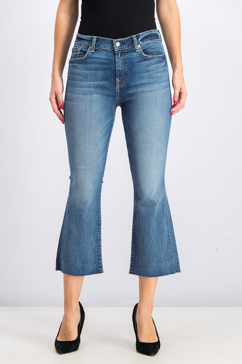 Women's High Waist Slim Kick Crop Jeans, Canyon Ranch