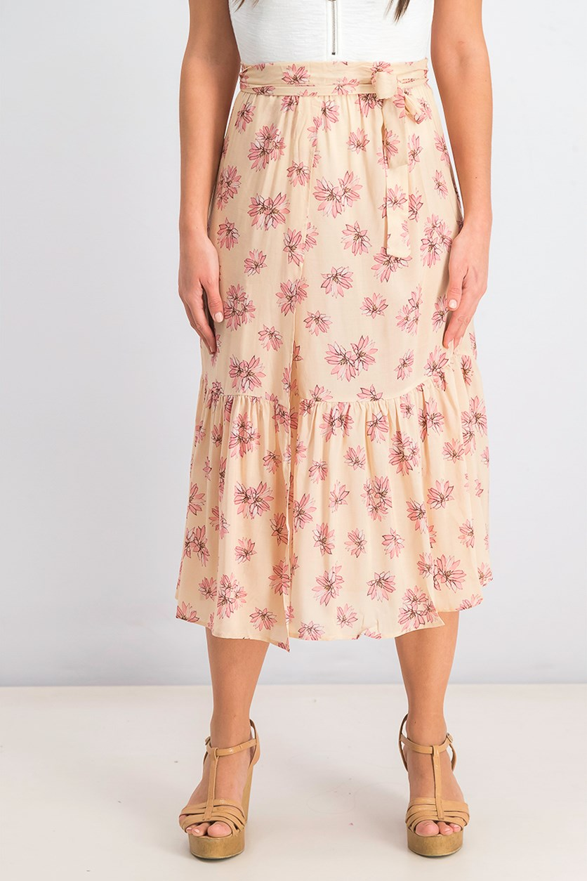 Women's Flying Lotus Skirt, Tan Combo