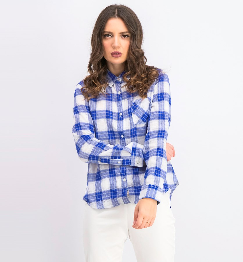 Women's Graceville Plaid Shirt, Blue/White