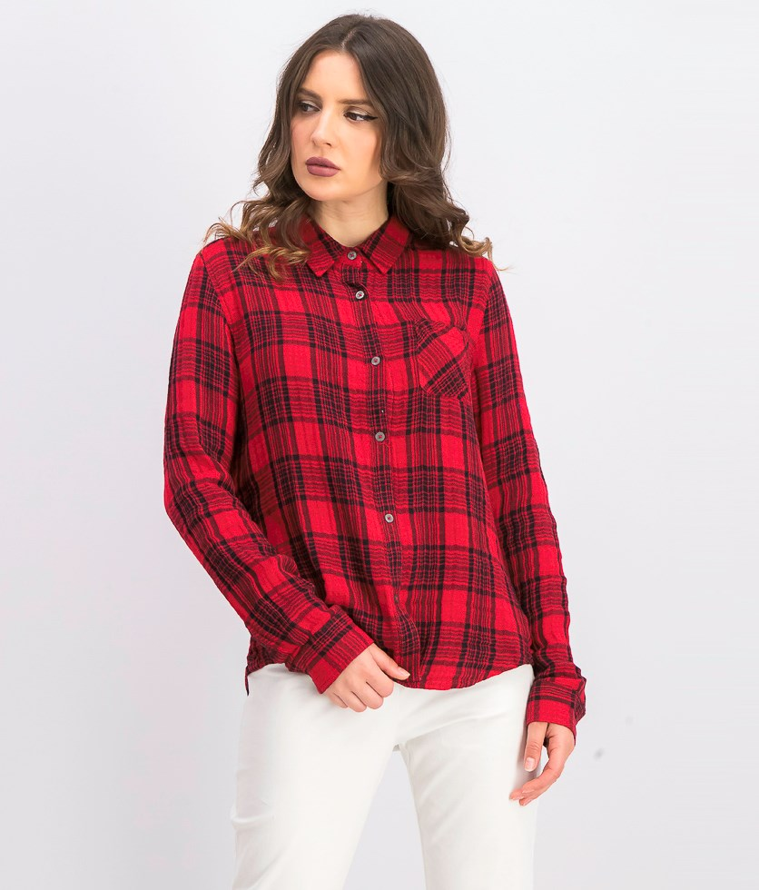 Women's Bellamy Plaid Shirt, Red/Black