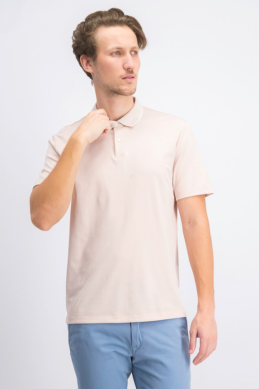 Men's Current Pique Polo Shirt, Tint/White