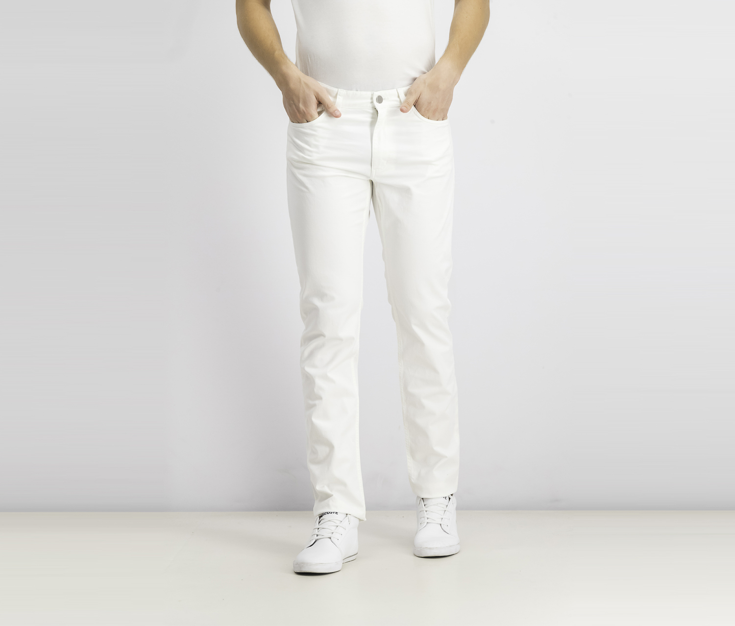 Men's Haydin Stretch-Cotton Pants, White