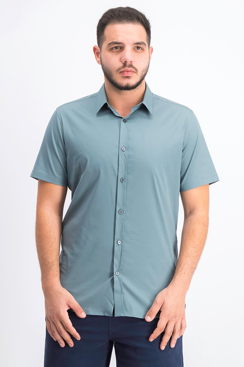 Men's Sylvain Wealth Short-Sleeve Shirt, Sage