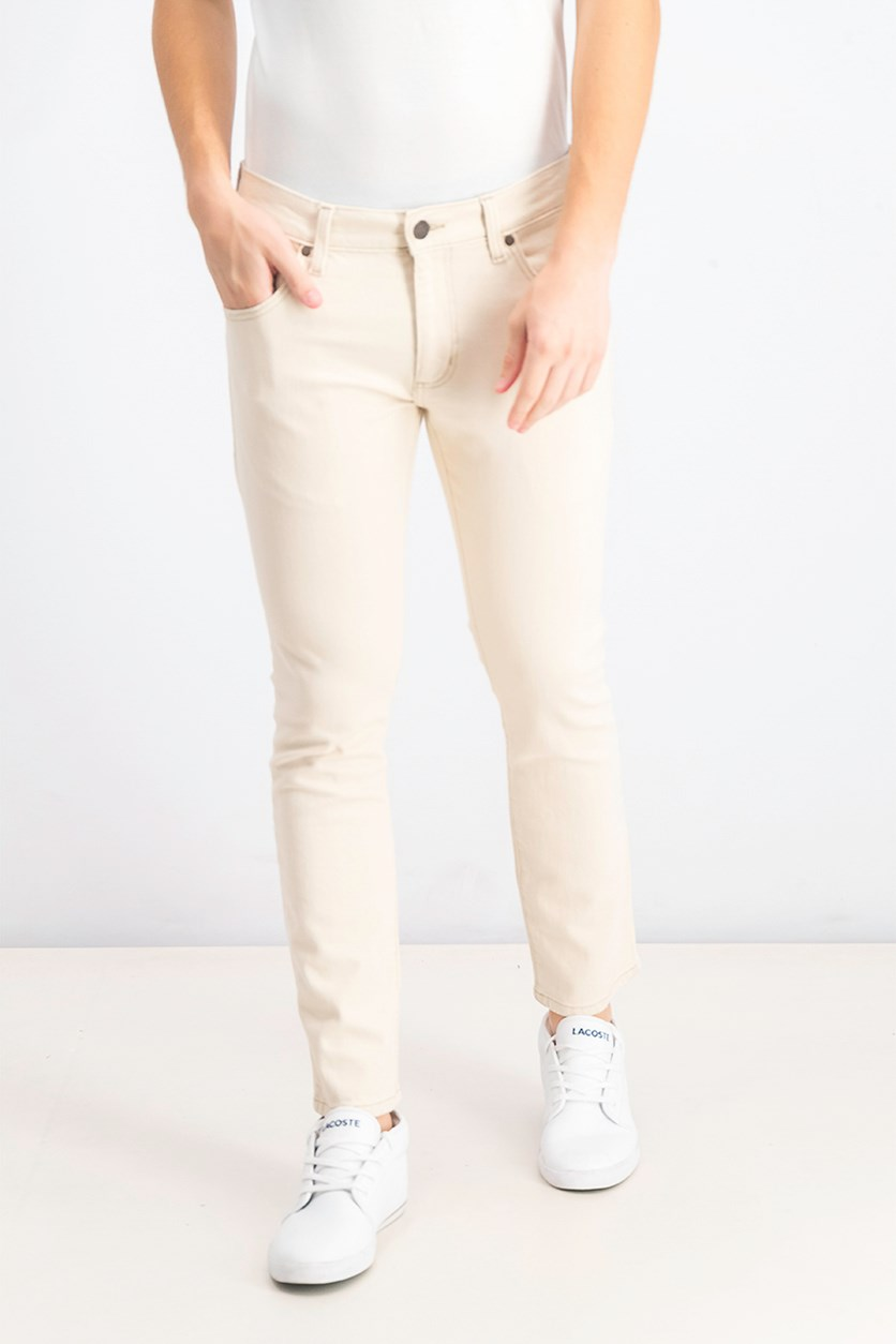 Men's Slim Tapered Jeans, Beige