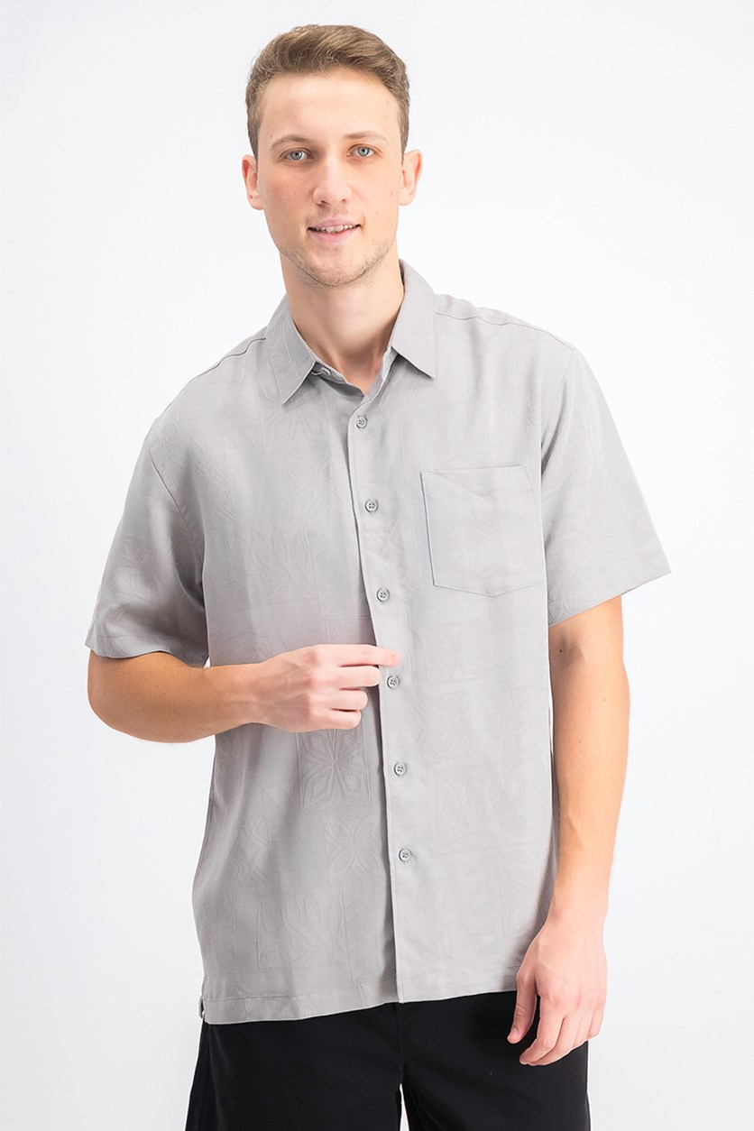 Men's Malama Bay Short Sleeve Shirt, Drizzle Grey