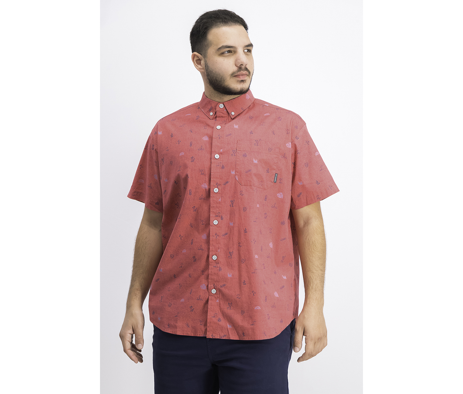 Men's Rapid Rivers Stretch Button-Down Shirt, Red
