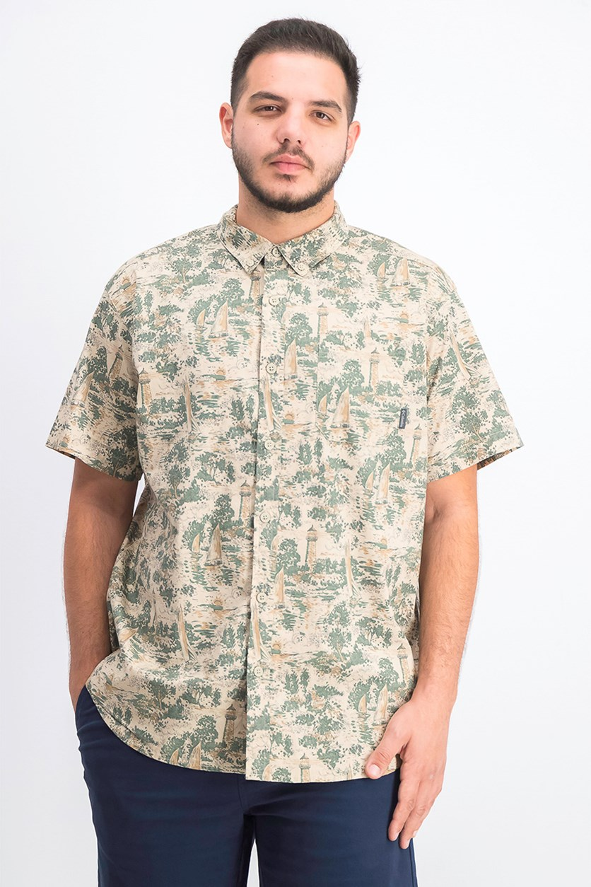 Men's Rapid Rivers Printed Shirt, Beige/Green
