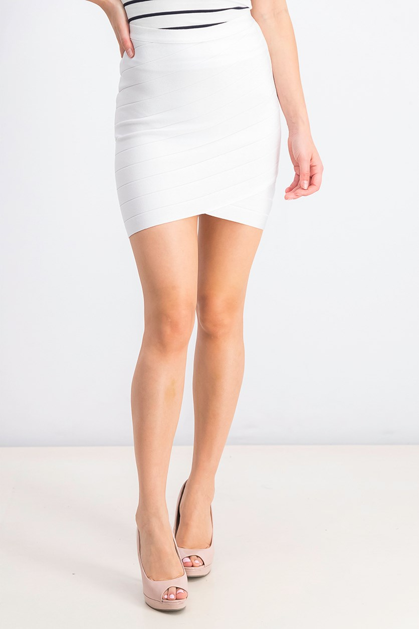 Women's Milani Bandage Skirt, Bright White