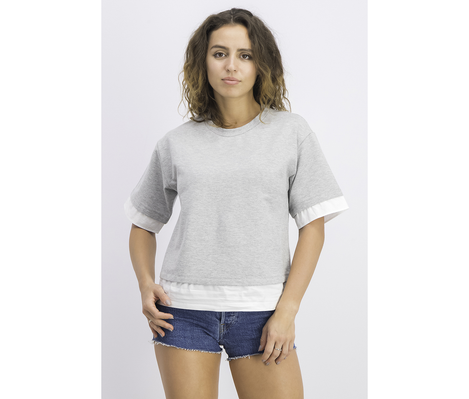 Women's Pullover Layer Top, Grey