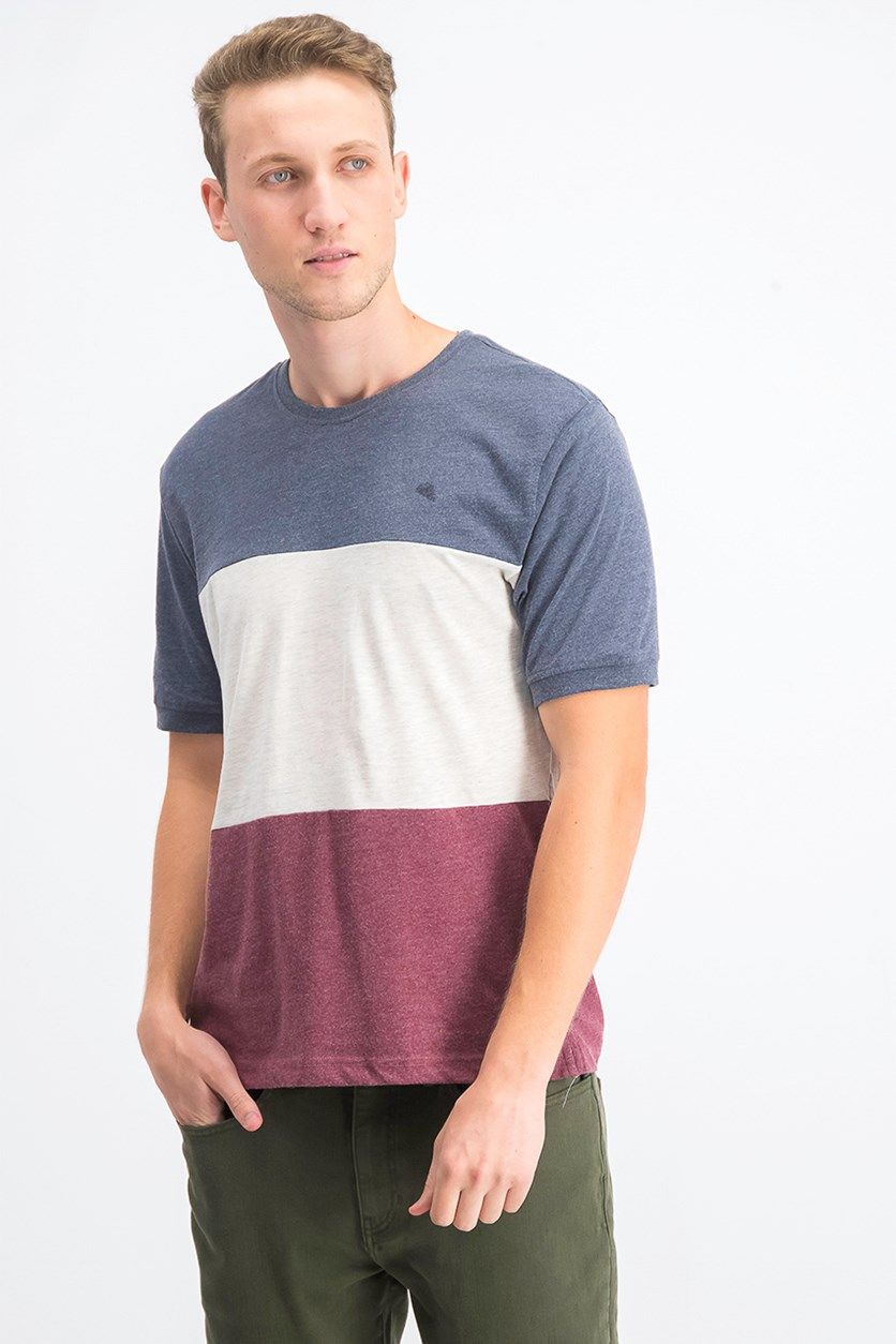 Men's Colorblocked T-Shirt, Blue Nights Combo