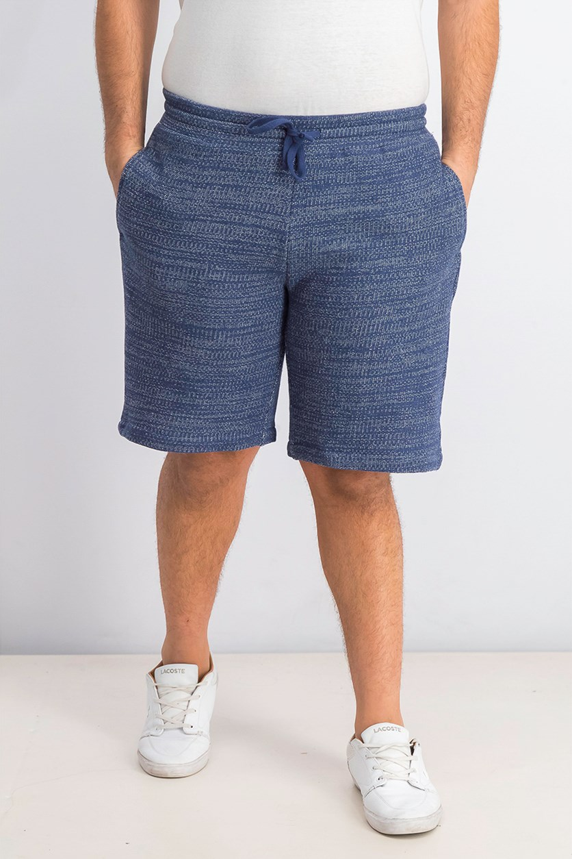 Men's Vintage Knit Drawstring Shorts, Blue
