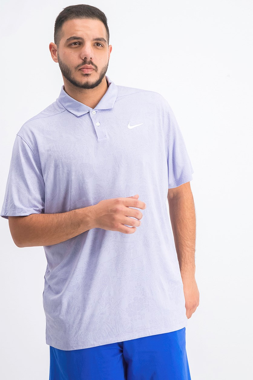 Men's Breathe Vapor Jacquard Polo, Purple Oxygen