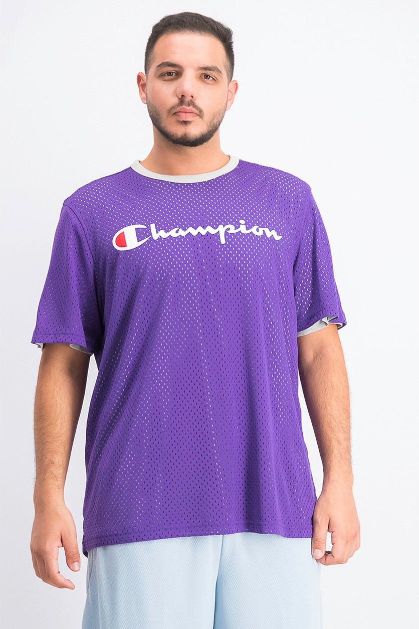 Men's Athletics Reversible Mesh Tee, Purple/Grey