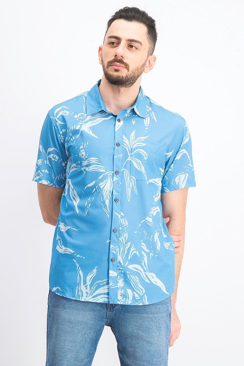Men's Tech Beachrider Shirt, Med Blue