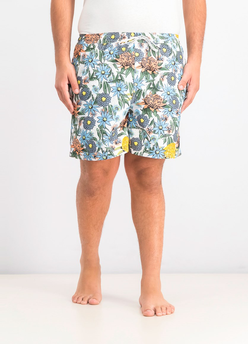 Men's Floral Core Surf Short, Blue/Green