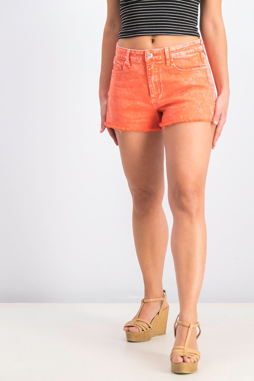 Women's Cutoff Shorts, Sunkissed Coral