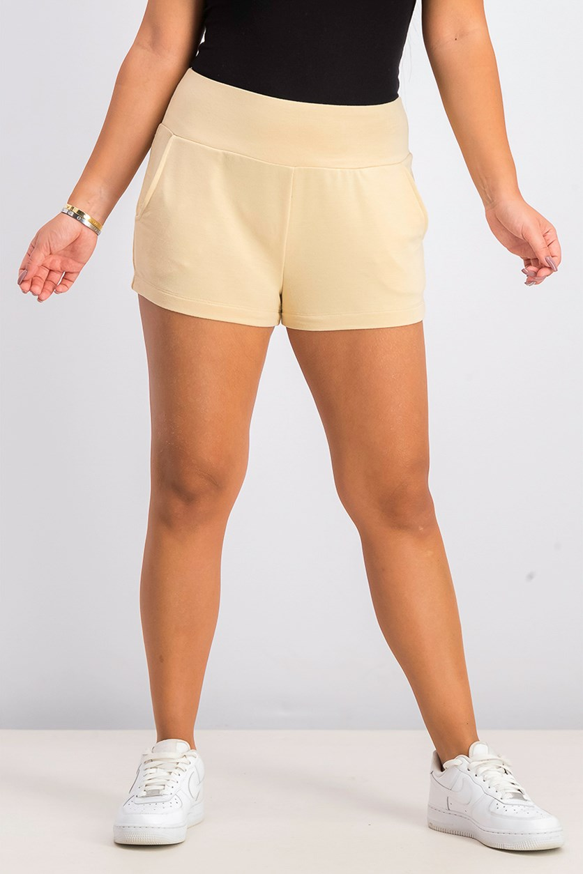 Juniors' French Terry Shorts, Warm Sand