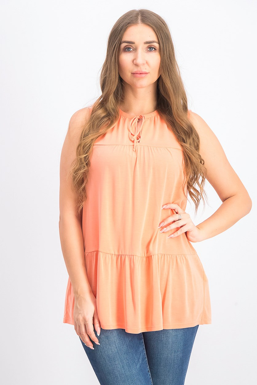Women's Sandwash Ruffled Tunic, Orange