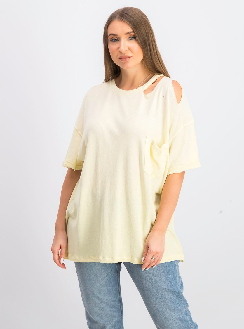 Women's Lucky Tee, Lemon Light