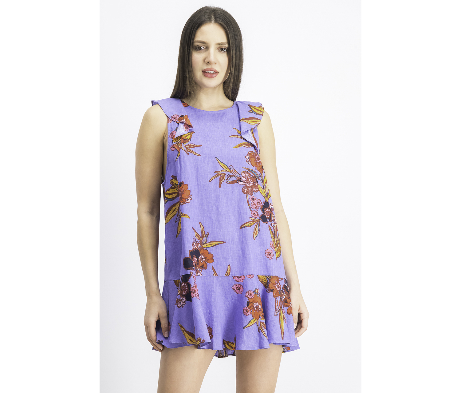 Women's Summer In Tulum Mini Dress, Bluebell