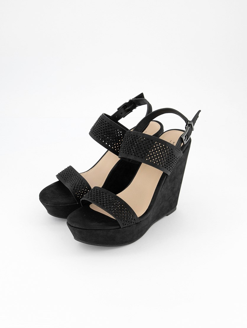 Women's Bass-Chloe Wedge Sandals, Black