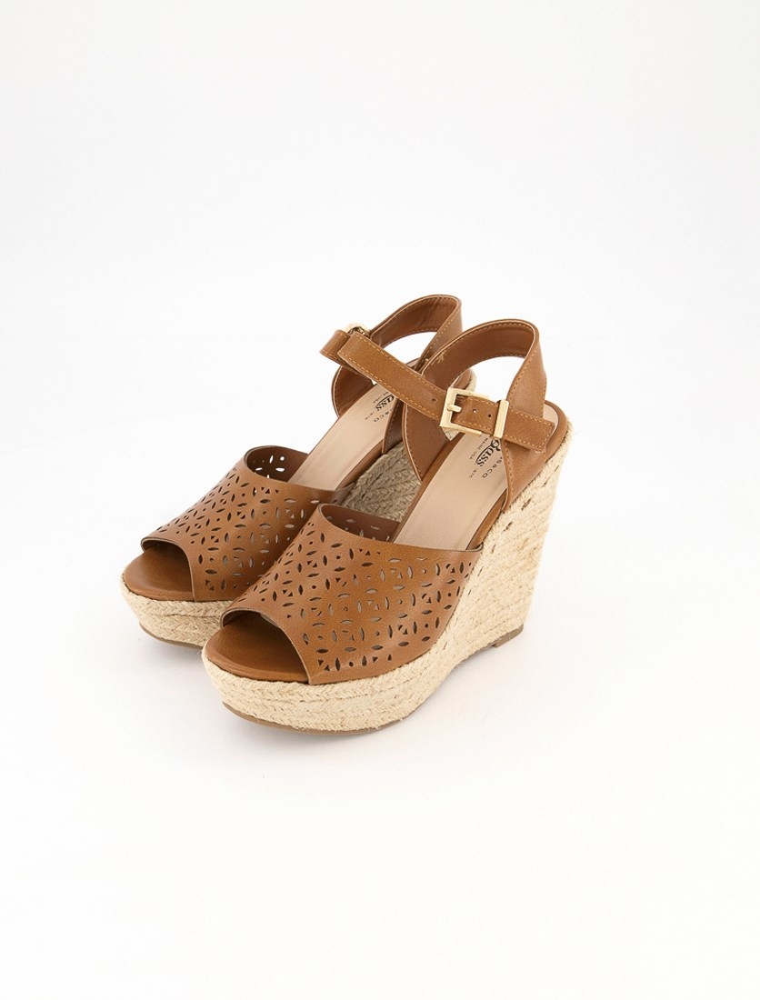 Women's Emily Wedge Sandals, Cognac