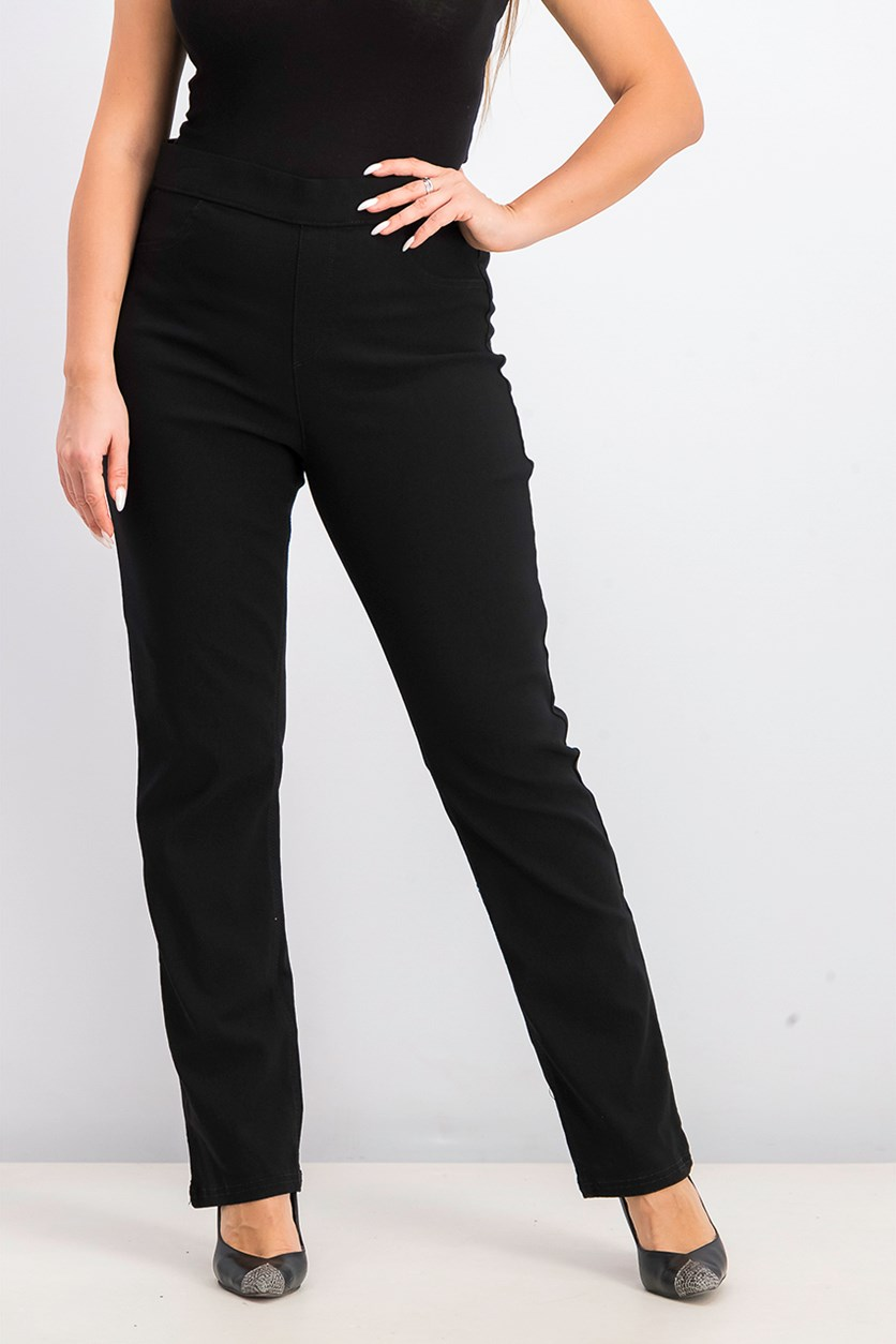 Womens Plain Jeans, Black