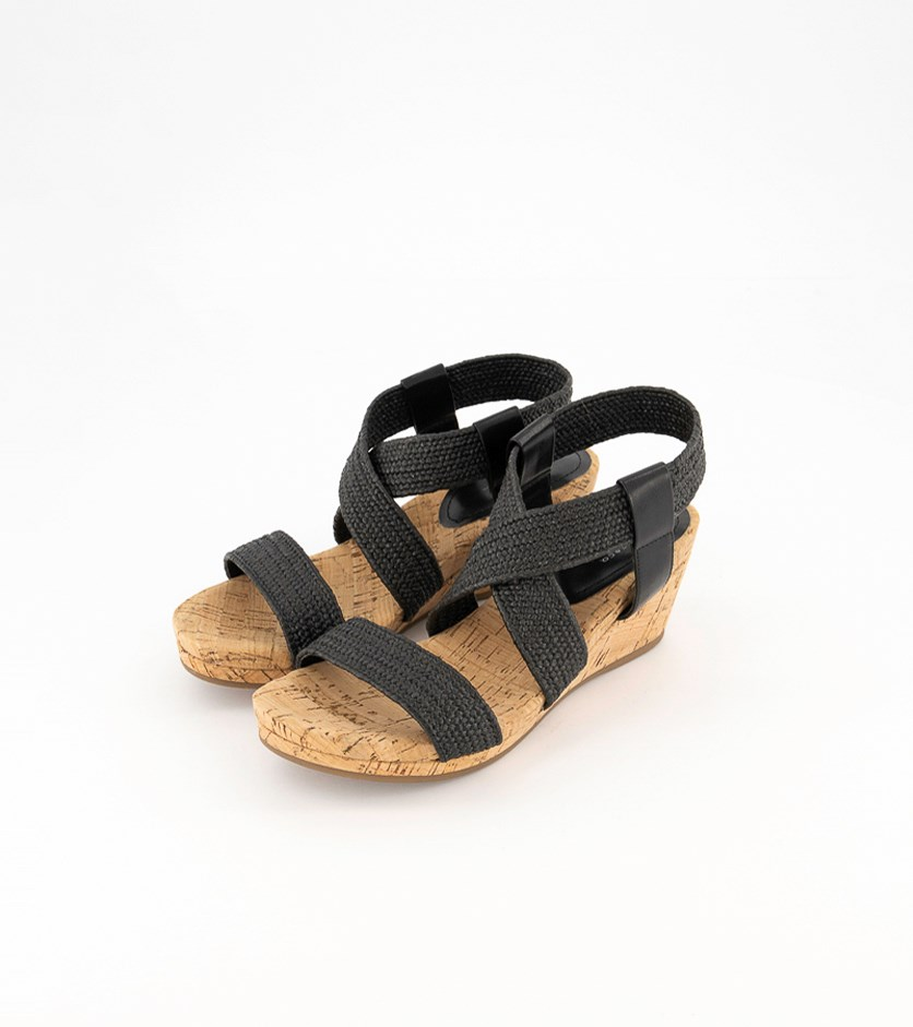 Women's Bass Emma Wedge Sandals, Black