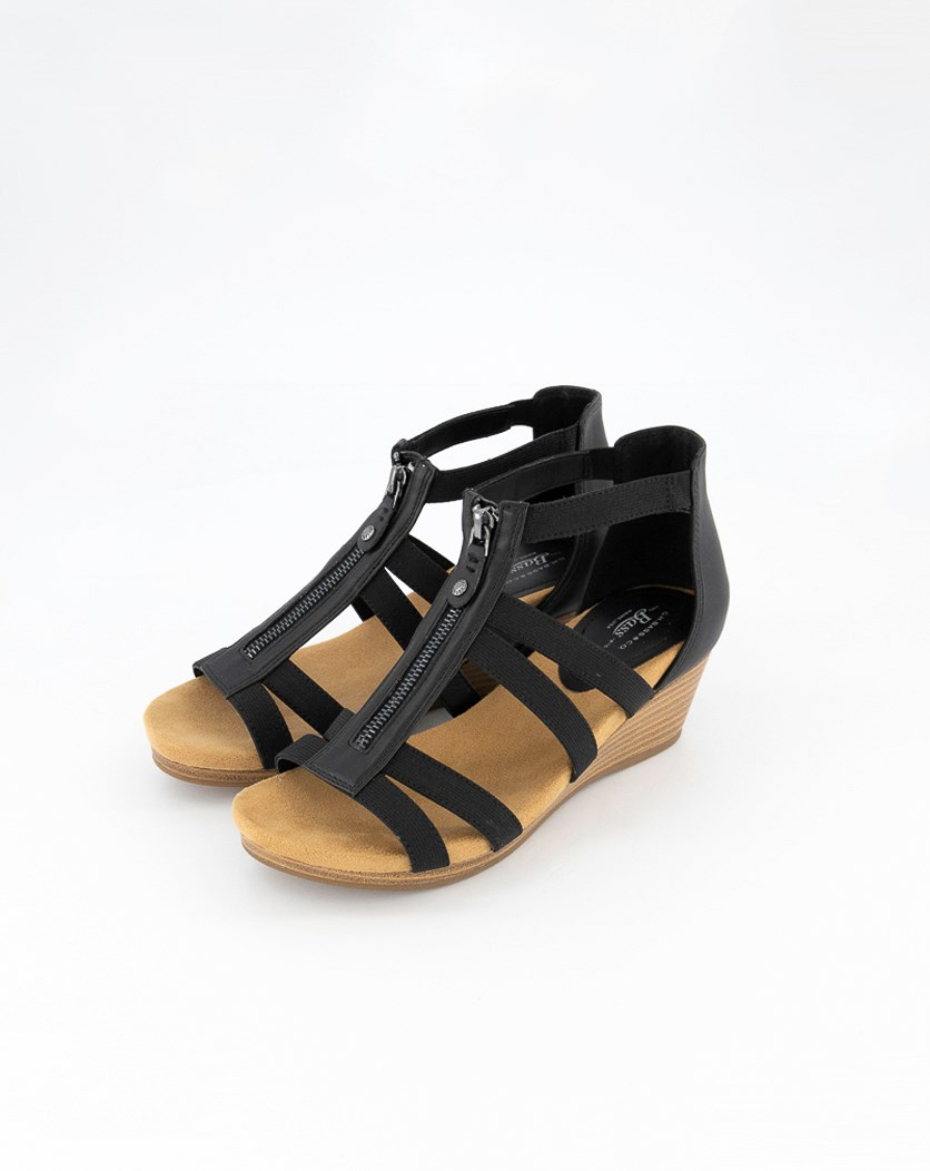 Women's Bass Nadia Wedge Sandals, Black
