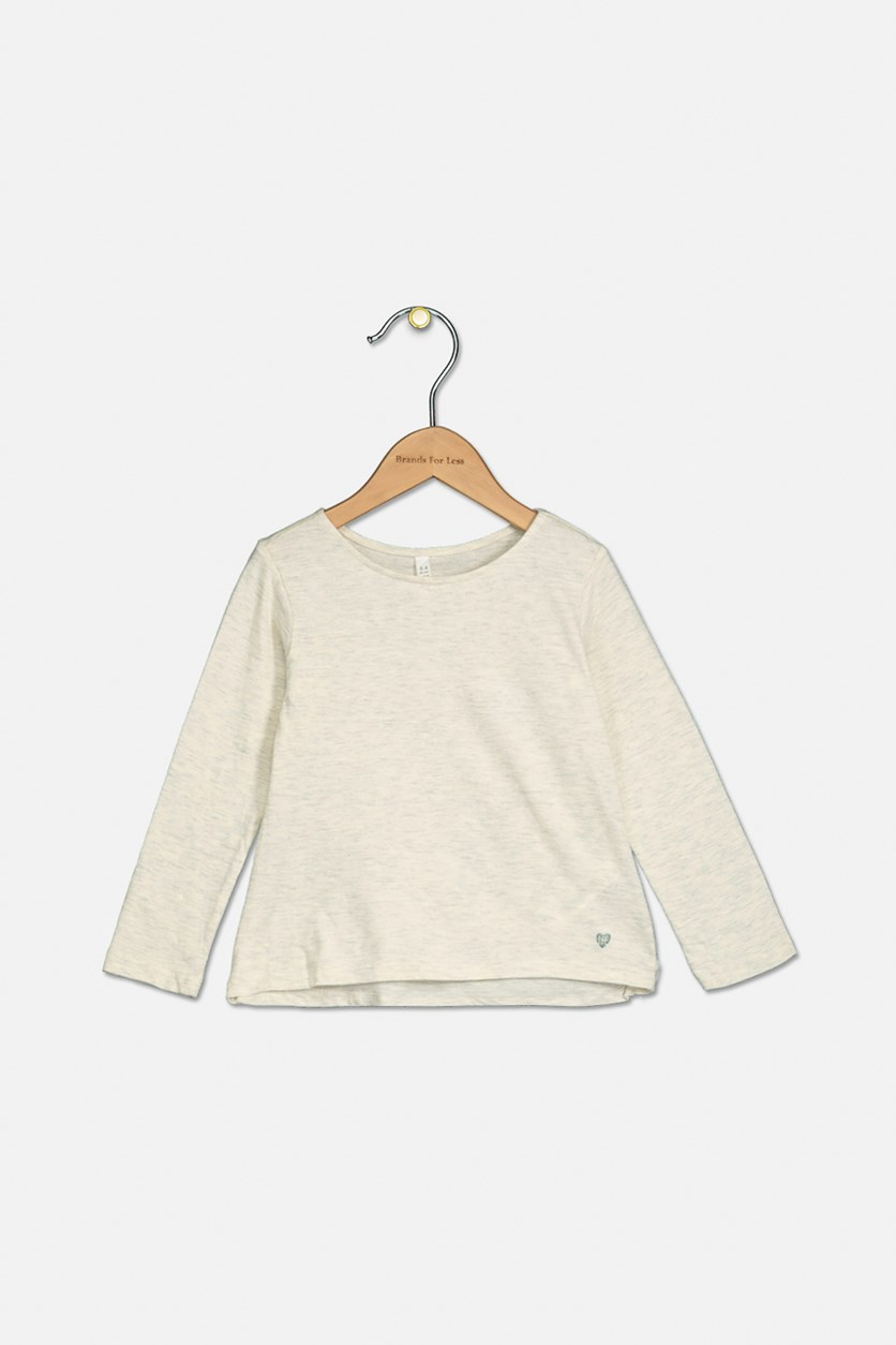 Baby Girl Long Sleeve Tops, Beige