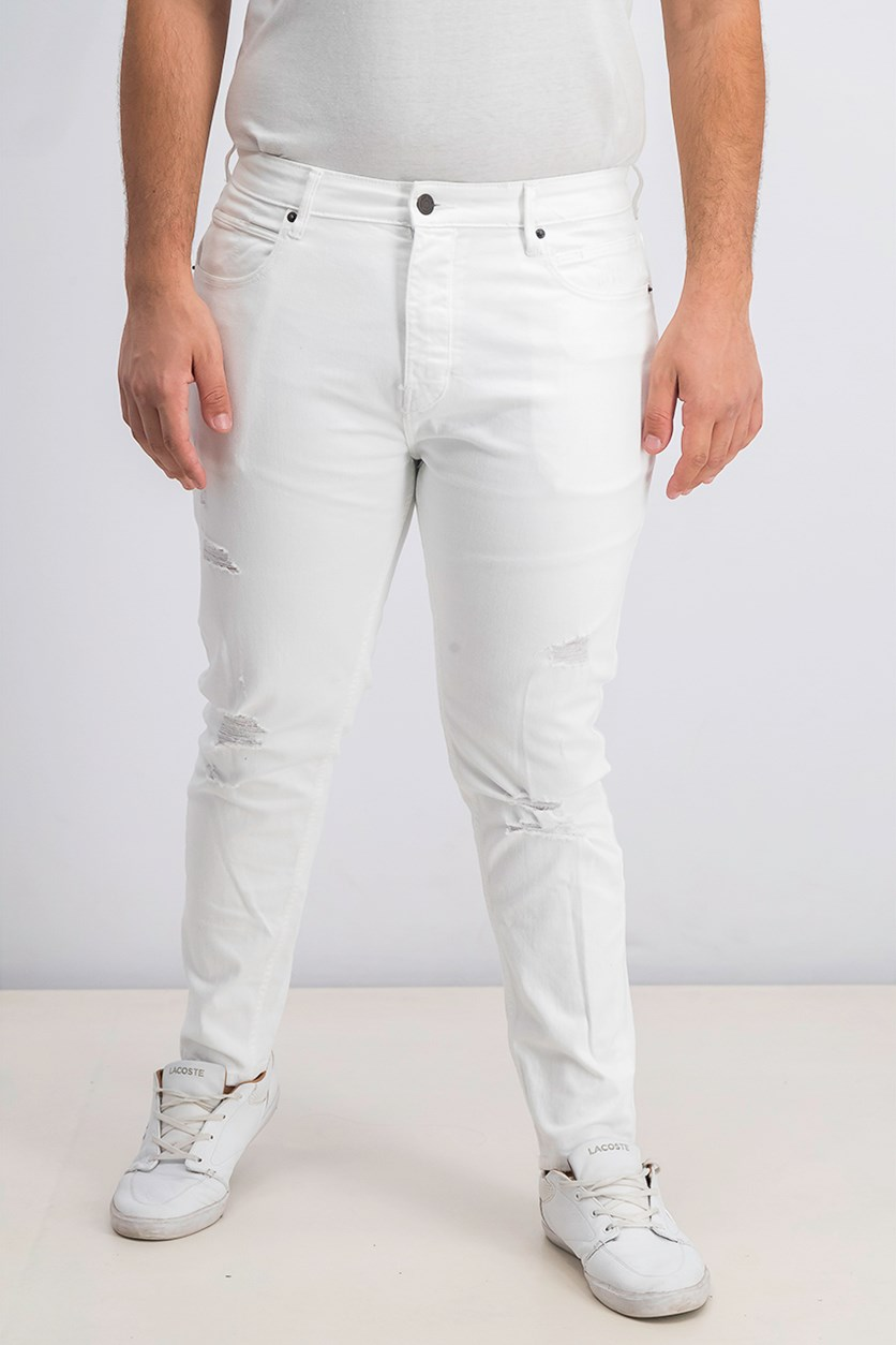 Men's Carrot Comfort Jeans, White