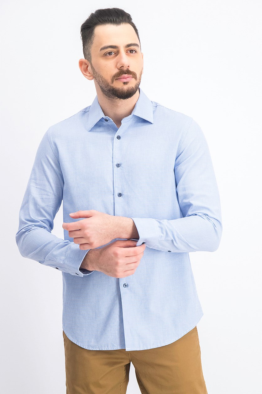 Men's Dobby Shirt, Light Blue