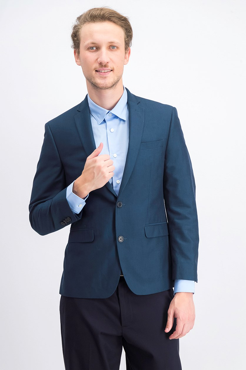 Men's Slim-Fit Stretch Suit Jacket, Teal
