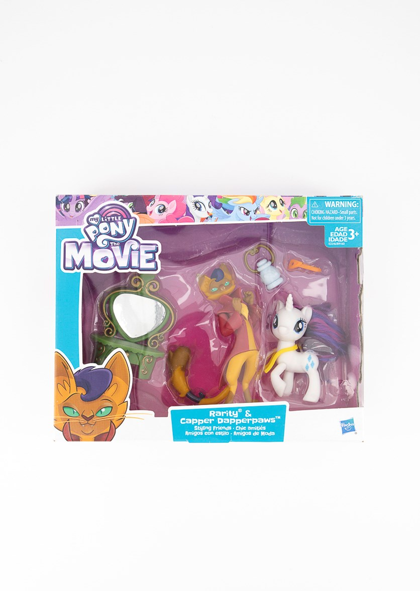 The Movie Rarity & Capper Dapperpaws Styling Friends Set, Green/Red/White