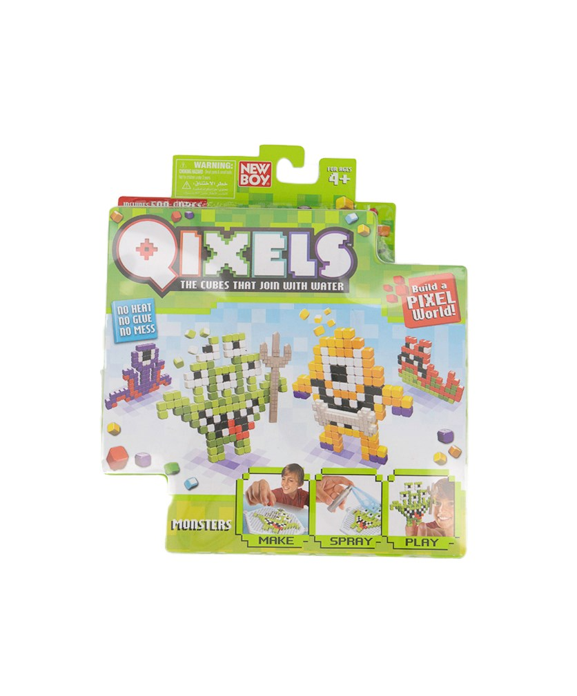 Boy's Qixels S1 Them Refill Pack Toys, Green Combo
