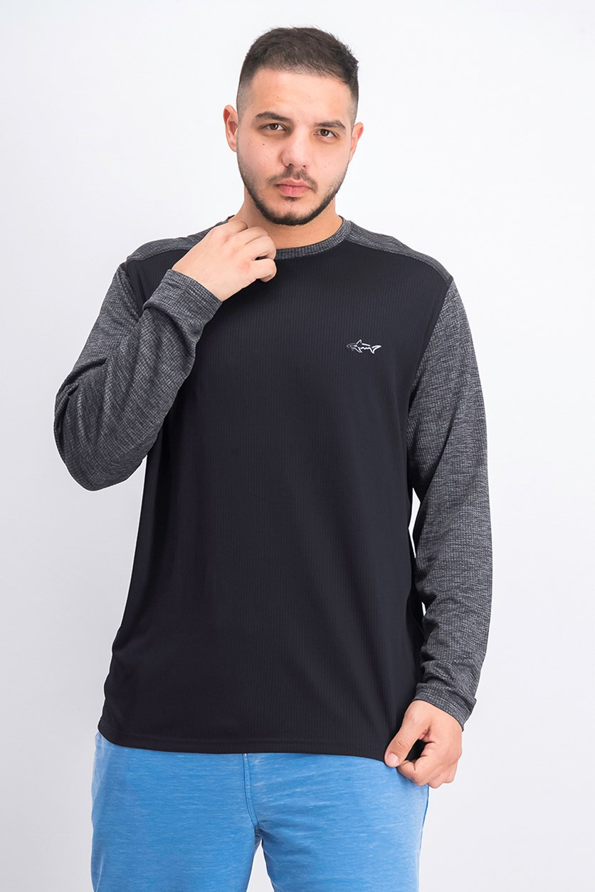 Men's Long Sleeve T-Shirt, Deep Black