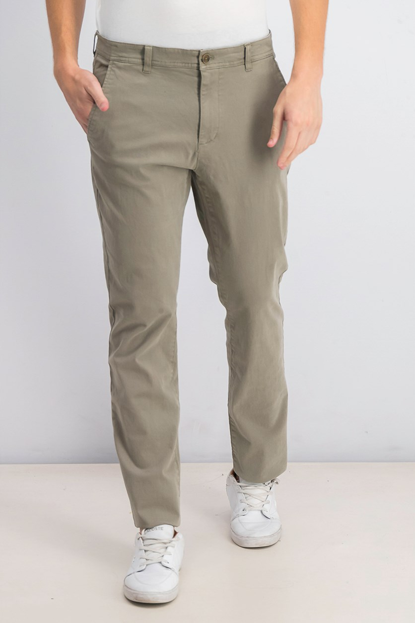 Men's Stretch Twill Pants, Khaki