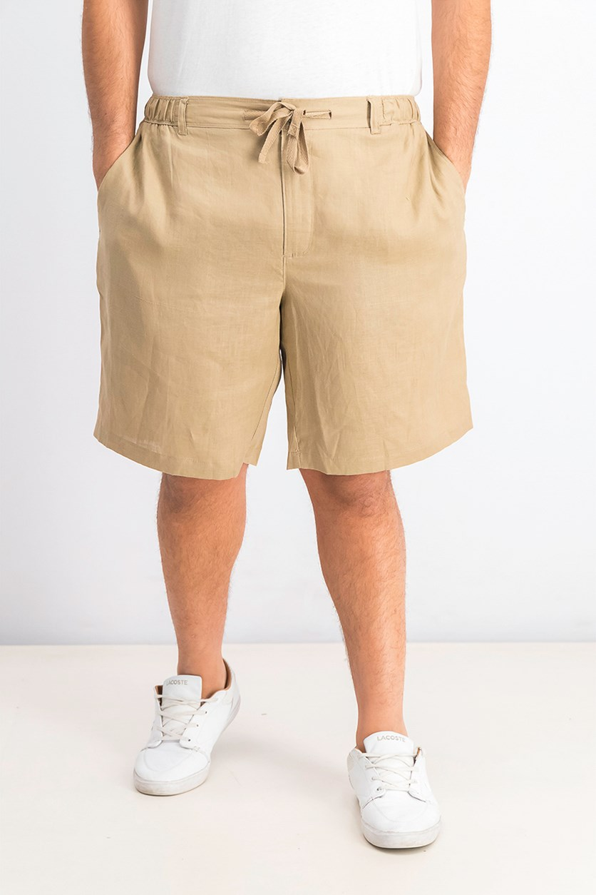 Men's Drawstring Shorts, Safari Tan