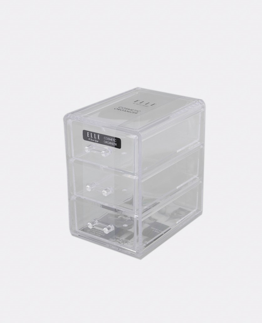3-Drawer Cosmetic Organizer, Transparent