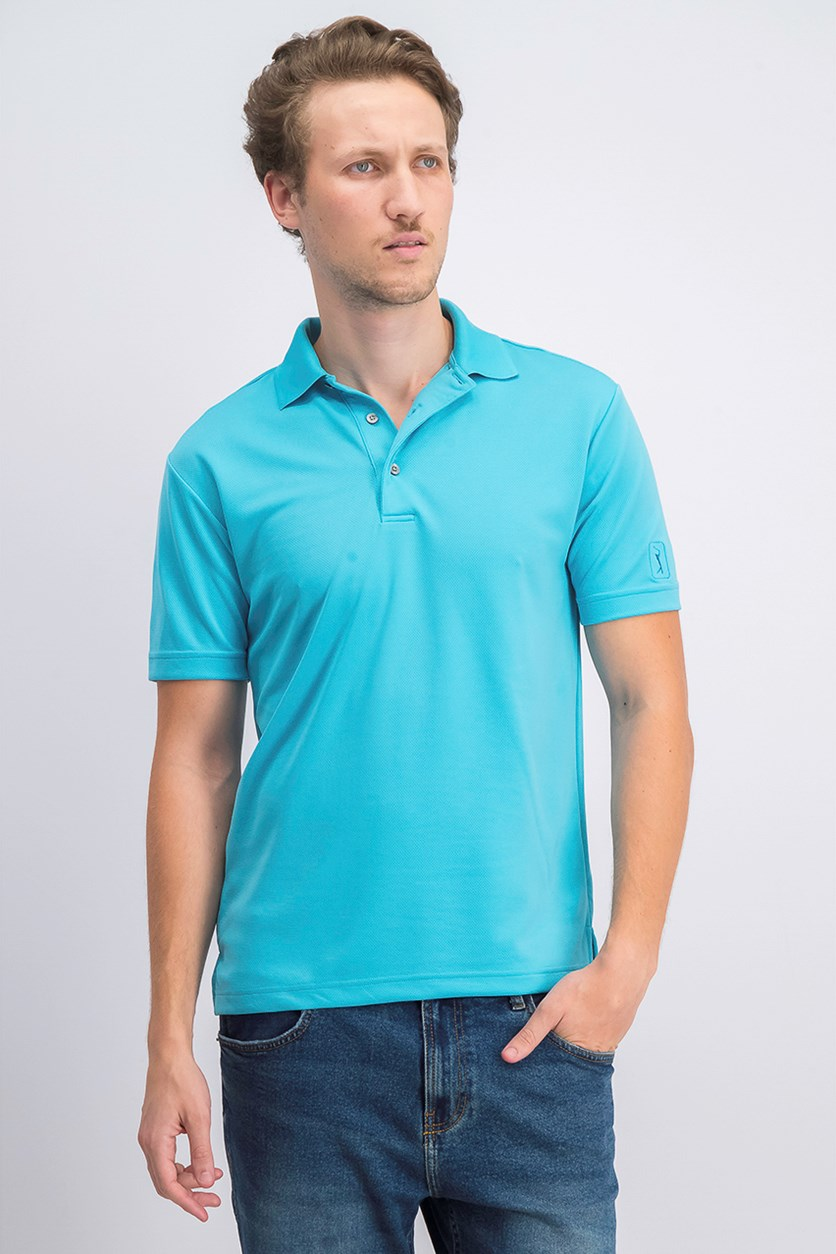 Men's Airflux Short Sleeves Polo, Maui Blue